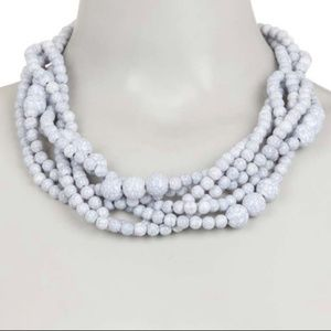 Clustered beaded collar necklace